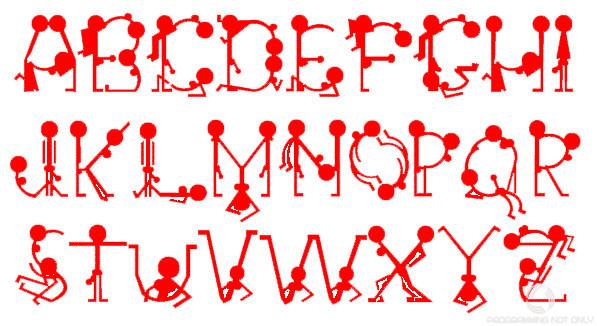 Эротический шрифт