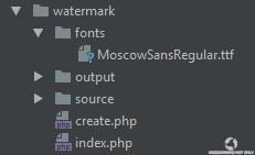Структура файлов и папок