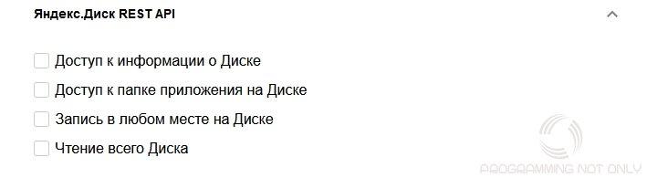 Yandex Disk API